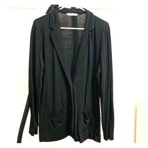 Cotton, T-Shirt Material Blazer jacket, Black L